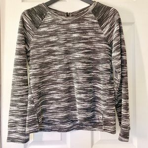 Banana Republic Factory Black/Gray Sweater